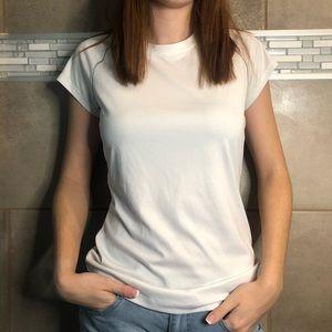White dry fit running shirt